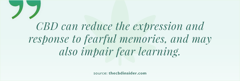 cbd can reduce the expression of fear memories