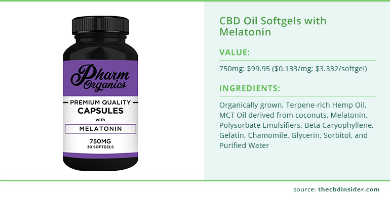 cbd oil softgels melatonin