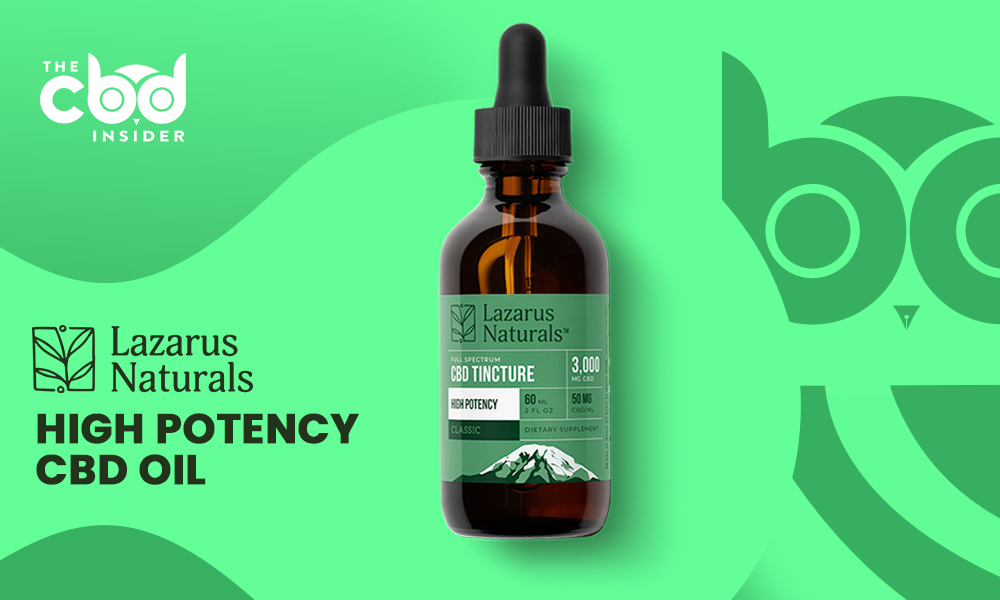 lazarus naturals high potency cbd oil review
