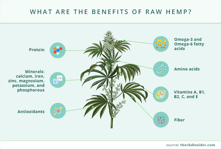 what are the benefits of raw hemp